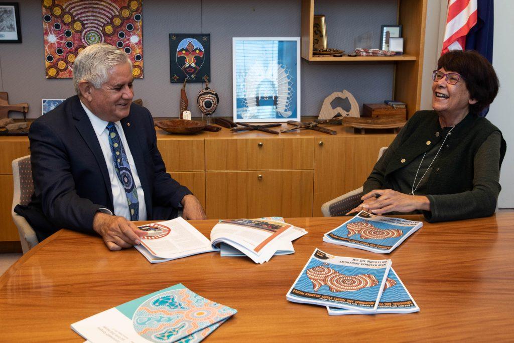 Minister Ken Wyatt and Pat Turner, lead convener of the Coalition of Peaks